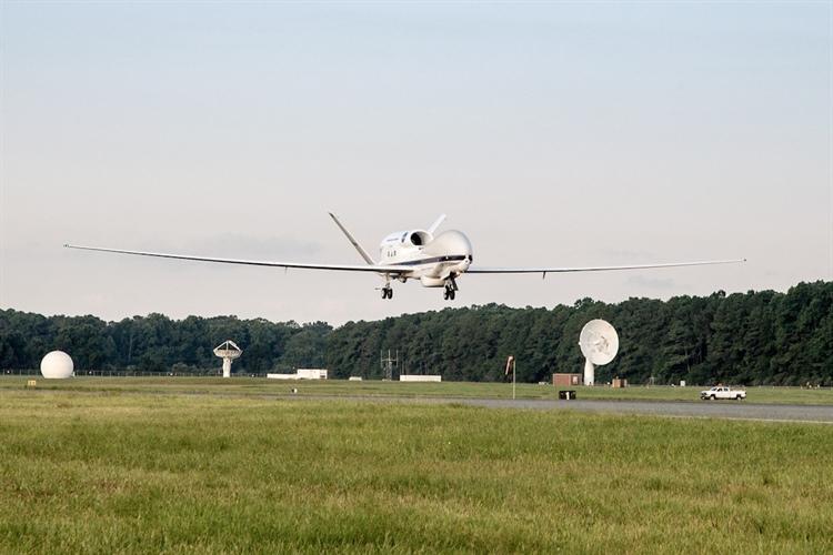 NASA & NOAA Team Repositions Global Hawk to NASA Wallops, VA